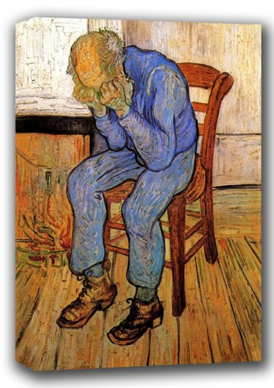 Van Gogh, Vincent: Old Man in Sorrow On the Threshold of Eternity. Fine Art Canvas. Sizes: A4/A3/A2/A1 (001722)
